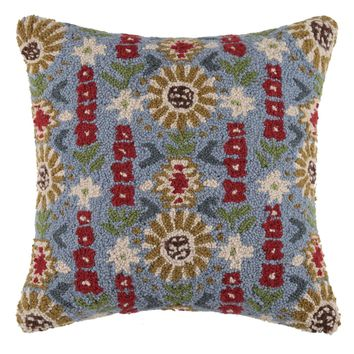 Corral Floral Pattern Pillow
