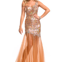 2013 One Shoulder Prom Gown 6067