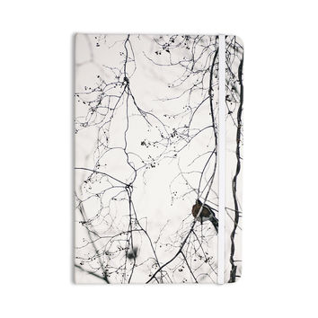 "Qing Ji ""Vintage Bird At Dusk"" Black White Everything Notebook"