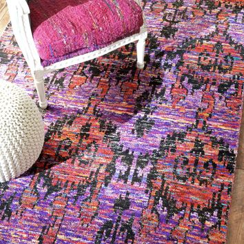 NuLOOM Hand Knotted Carleen Rug Fuchsia