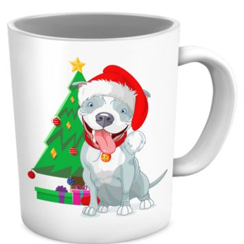 Pit Bull Holiday Mug