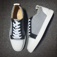 Cl Christian Louboutin Low Style #2009 Sneakers Fashion Shoes
