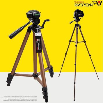 WeiFeng WT3150 Portable Lightweight Aluminum Alloy Tripod with Carrying Pouch Camera Binoculars Phone