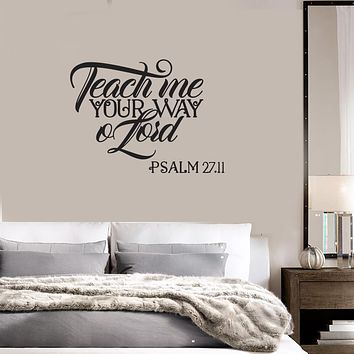 Vinyl Wall Decal Psalm Quote Religion Prayer Room Interior Art Stickers Mural (ig5947)