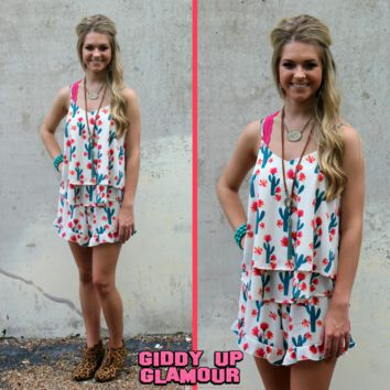 Never Give You Up Ruffle Tank Top in Cactus