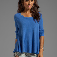 Free People Rockabilly Raglan Thermal in Cobalt Blue from REVOLVEclothing.com