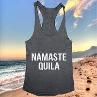 Namaste quila Tank top yoga racerback funny work out fitness