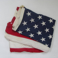 STOREWIDE SALE. Vintage cotton 3x5 USA Flag // Americana // Traditional Red White & Blue 50 stars flag // patriotic Holiday