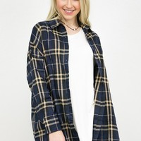 Nightfall Flannel High- Low Tunic