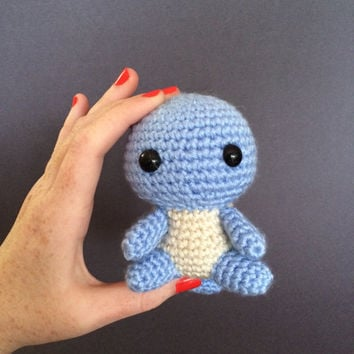 Squirtle Pokemon Plush Amigurumi Crochet Doll