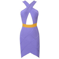 Aliexpress.com : Buy Super Hot! 2013 Summer Elegant Blurred Bright Purple Stripes Halter Bandage Dress Strapless Prom from Reliable Bandage Dress suppliers on Online Store 419525