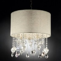 "Elegant DeCOR' 23""H Drape Shell Crystal Ceiling Chandelier Lamp Collection"