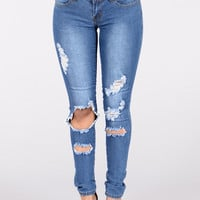 Best Be Believing Jeans - Medium Blue