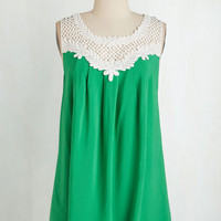 ModCloth Mid-length Sleeveless Always the Fun One Top in Green