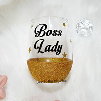 Boss Lady Wine Glass