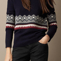 Wool Cashmere Fair Isle Sweater
