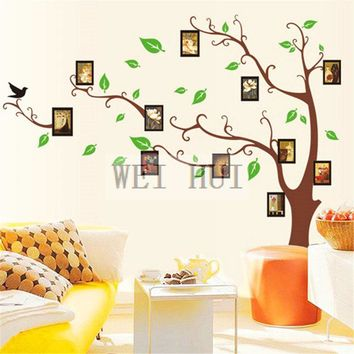 Large Size Frame Tree Photo Memory Vinyl Mural Decal Wall Sticker for Glass Window Living Room Home