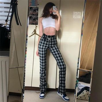 Women's Fashion Hot Sale Summer High Waist Casual Pants [1934967767137]