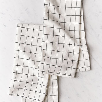 Wonky Grid Dish Towel Set | Urban Outfitters