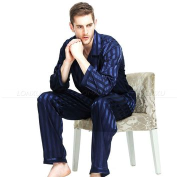Men's Silk 2-pc Pajama Set