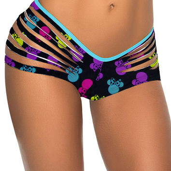 Minnie Mouse Print Ripped Bottom