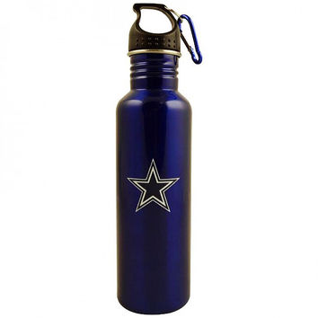 NFL Dallas Cowboys Stainless Steel Blue Water Bottle - 26 oz (770 ml)