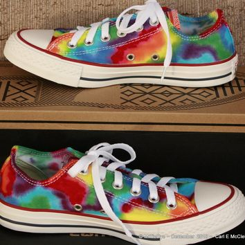 Men sz 5 Rainbow Hand Dyed Converse Sneakers   Lo Top Women sz 7