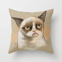Tardar Sauce Throw Pillow by Poopbird | Society6