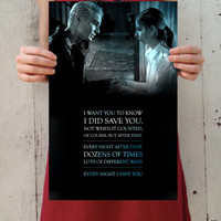 "Buffy the Vampire Slayer: Buffy and Spike - ""Every Night I Save You"" Digital Art 11x17 Poster Print"