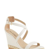 "Women's Via Spiga 'Moss' Studded Platform Wedge Sandal, 4 1/2"" heel"