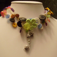 Bouquet Button choker