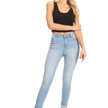 Feeling High Waist Denim Jeans in Light