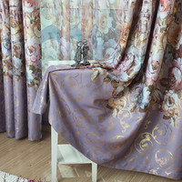 New  Pastoral Printed Castle  Window Curtains For living Room/ Bedroom Blackout Curtains Window Treatment /drapes Home Decor