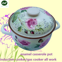 CASSEROLE COOKING TOOL ENAMEL HIGH QUALITY WITH SIZES UTENSIL COOKING POT KITCHENWARE