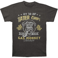 Gas Monkey Men's  Tater Chip T-shirt Heather Charcoal