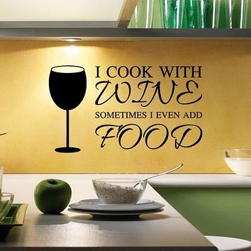Wine Vinyl Wall Stickers Kitchen Home Decor Mural Decal