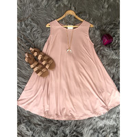Potato Sack Dress in Blush