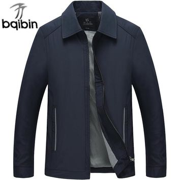 Men's Jackets 2018 Spring Autumn Casual Thin Cotton Windbreaker College Stand Collar Coat Homme Varsity Jacket 3XL Plus Size