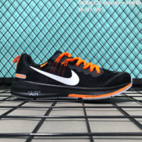 HCXX N184 OFF-White x Nike Air zoom Structure 21 Flyknit Breathable Running Shoes Black Orange