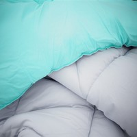 Glacier Gray/Minty Aqua Reversible College Comforter - Twin XL Bedding