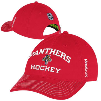 Reebok Florida Panthers Authentic Locker Room Slouch Adjustable Hat - Red