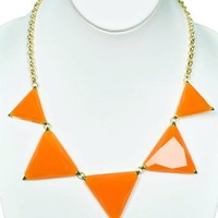 Peaks and Valleys Necklace in Orange