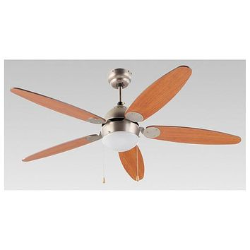 Ceiling Fan with Light Grupo FM VT-130 Brown