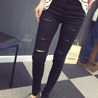 Multicolor stretch pants feet Waichuan bottoming