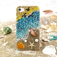 Dreamland Beach Colorful Rhinestone Handmade Case For iPhone 5/5S