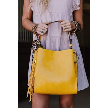 Let's Carry On Handbag - Yellow