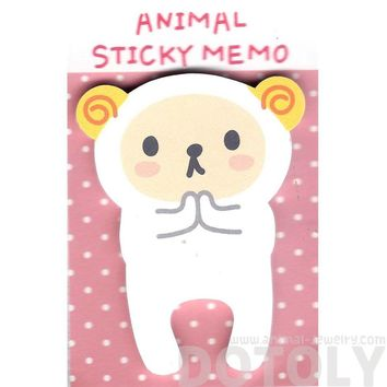 Adorable Ram Sheep Shaped Animal Cartoon Adhesive Post-it Memo Pad | DOTOLY