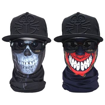 Skull Face Shield MASK Bandana 2pcs
