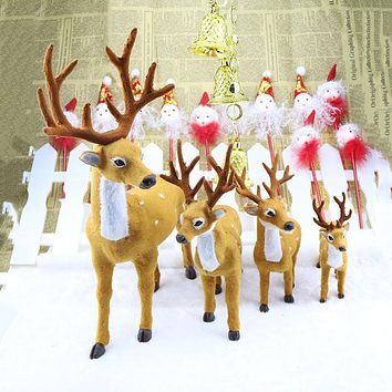 1pcs Xmas Elk Plush Simulation New Year Christmas Decorations Christmas Ornaments for Home  Christmas Gift Navidad Noel,T