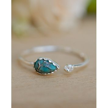 Pietra Ring - Sterling Silver Copper Turquoise